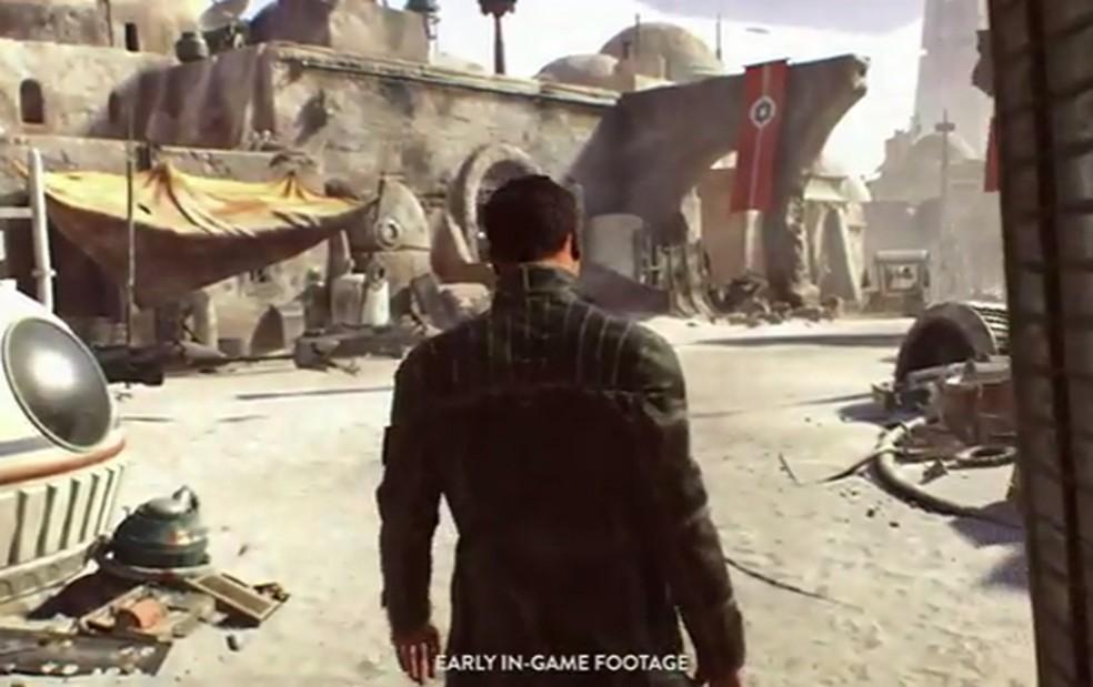 Cena do game de 'Star Wars' que era desenvolvido pela Visceral Games, criadora da série 'Dead Space' (Foto: Reprodução/EA)