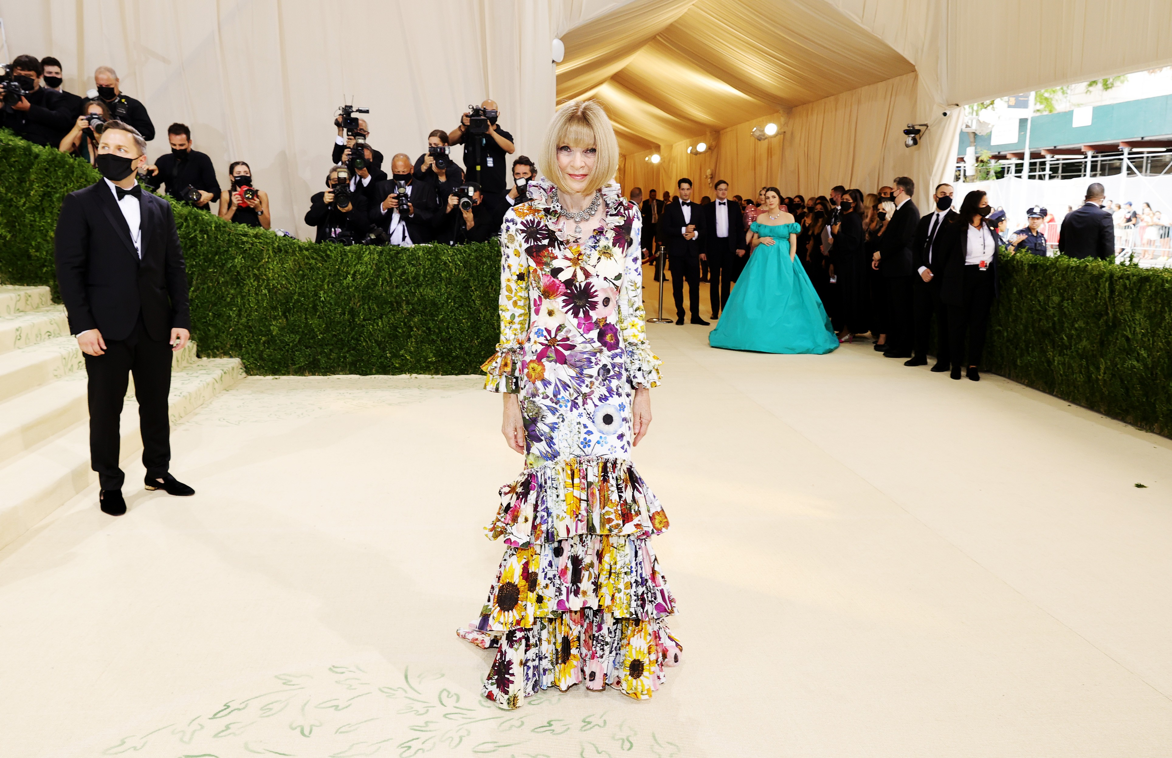 NEW YORK, NEW YORK - SEPTEMBER 13: Anna Wintour attends The 2021 Met Gala Celebrating In America: A Lexicon Of Fashion at Metropolitan Museum of Art on September 13, 2021 in New York City. (Photo by Mike Coppola/Getty Images) (Foto: Getty Images)