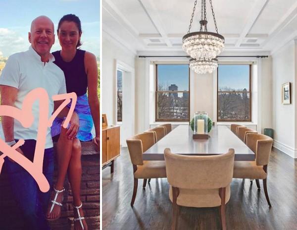 O apartamento vendido pelo ator Bruce Willis e pela esposa por US$ 17,75 milhões (Foto: Instagram/Divulgação)