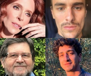 Deborah Evelyn, Bruno Montaleone, Celso Frateschi e Johnny Massaro | Reprodução