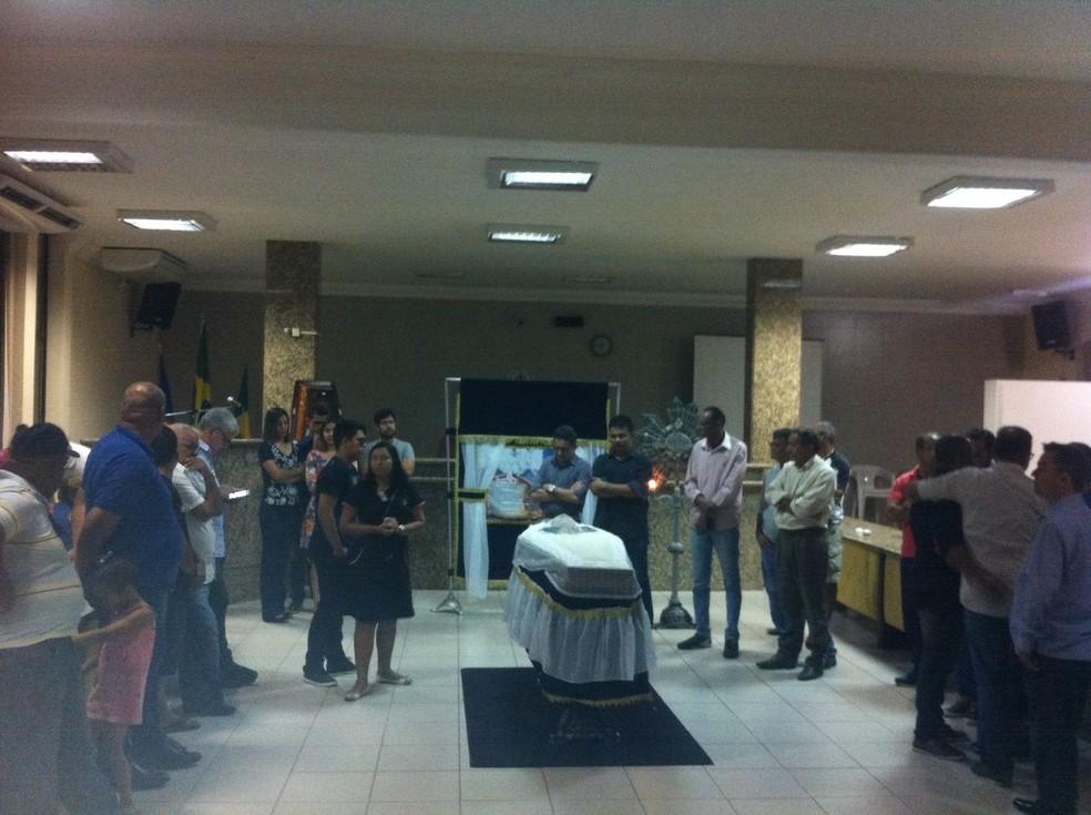 Presidente do PR em Petrolina é velado na Câmara de Vereadores da cidade (Foto: Leciane Lima / TV Grande Rio)