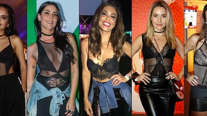 f2638cbb4cee47 Body e cropped tipo lingerie são hits nos looks das famosas no Rock ...