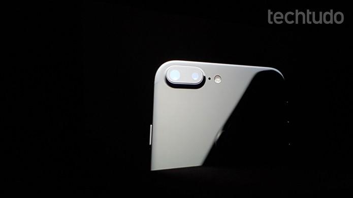 Câmera dupla de 12 megapixels do iPhone 7 Plus (Foto: Thássius Veloso/TechTudo)