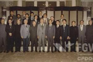 Moreno em viagem à China com Ulysses Guimarães