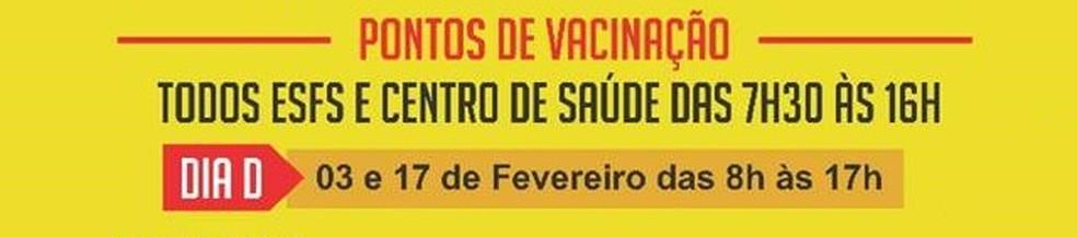 Todos ESFs e Centro de Saúde vão aplicar a vacina (Foto: Divulgação/Prefeitura de Tremembé)