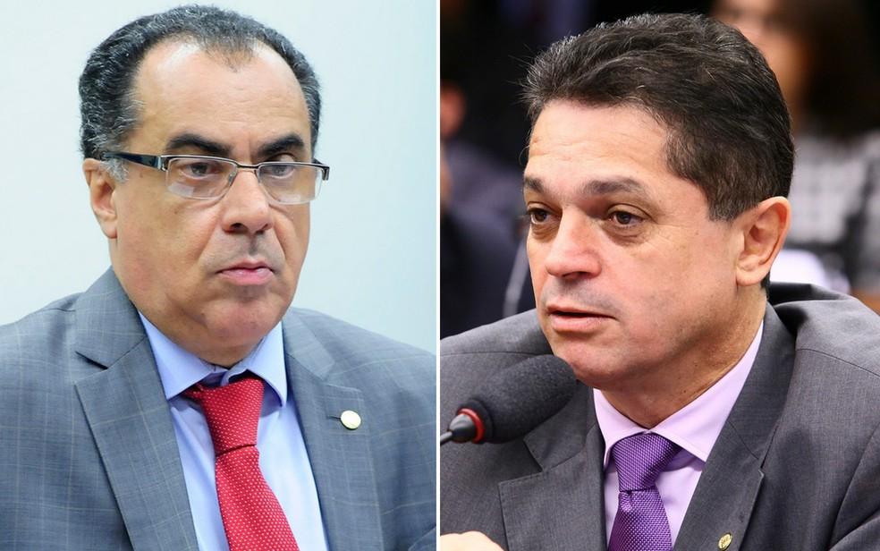 Os deputados Celso Jacob (esq.) e João Rodrigues (dir.) (Foto: Alex Ferreira e Antonio Augusto/Câmara dos Deputados)