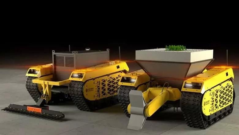 Robô reflorestador (Foto: Milrem Robotics)