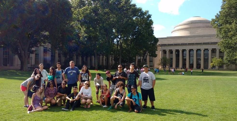 Estudantes de Ubatuba fazem intercâmbio em Boston, EUA  (Foto: Arquivo Pessoal)