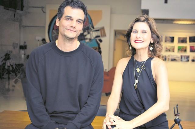 Wagner Moura e Simone Zuccolotto (Foto: Aline Arruda)
