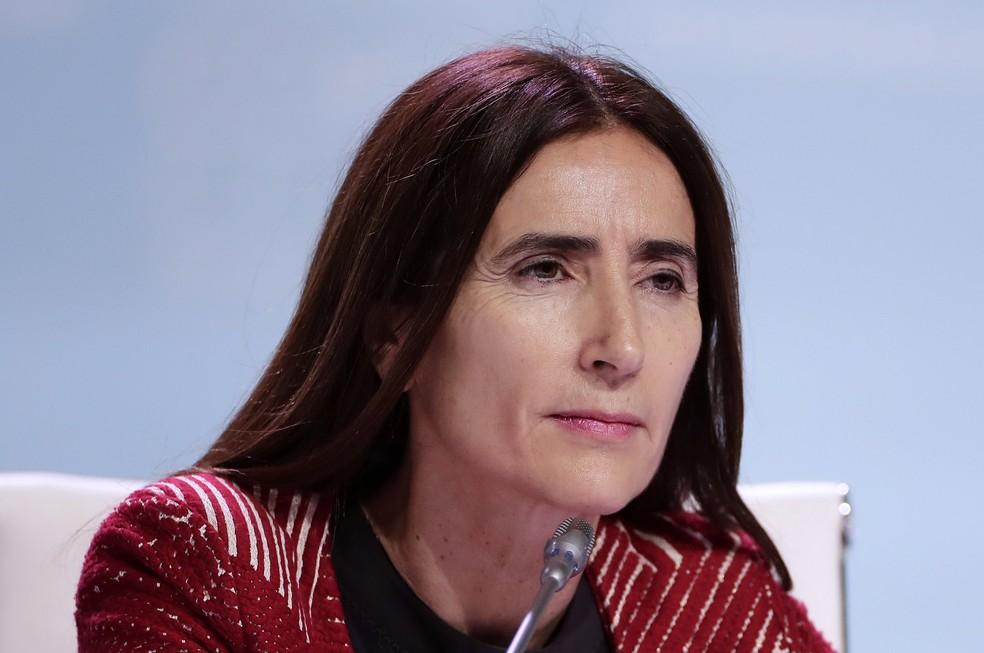 Ministra do meio ambiente do Chile, Carolina Schmidt — Foto: Manu Fernandez/AP