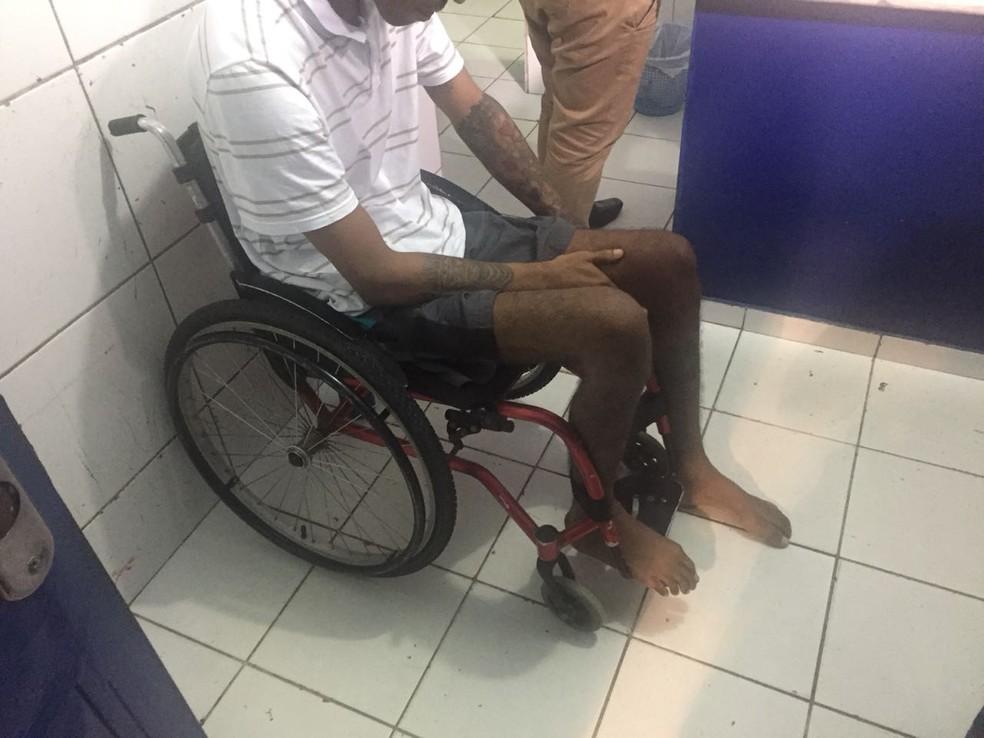 De acordo com a polícia, Jamerson dos Santos Muniz foi encontrado após denúncia anônima (Foto: George Arroxelas/G1)