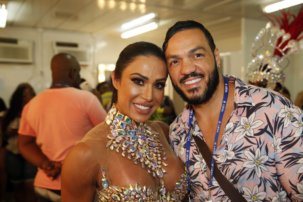 Gracyanne Barbosa e o marido, Belo (Foto: Marcos Serra Lima/G1)