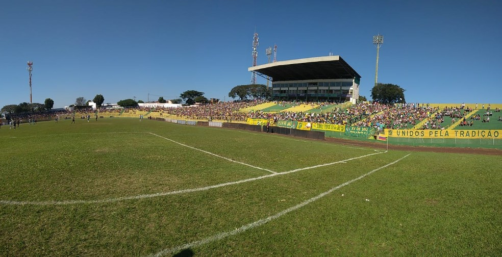 Estádio Zezinho Magalhães, em Jaú — Foto: Paulo César Grange/XV de Jaú