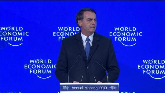 Em Davos, Bolsonaro fala em abrir a economia e atrair novos parceiros