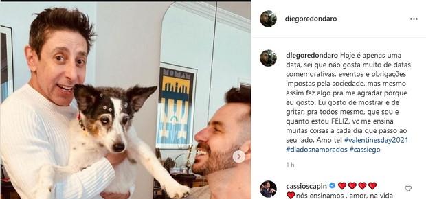 Cassio Scapin e Diego Redondaro (Foto: Reprodução/Instagram)