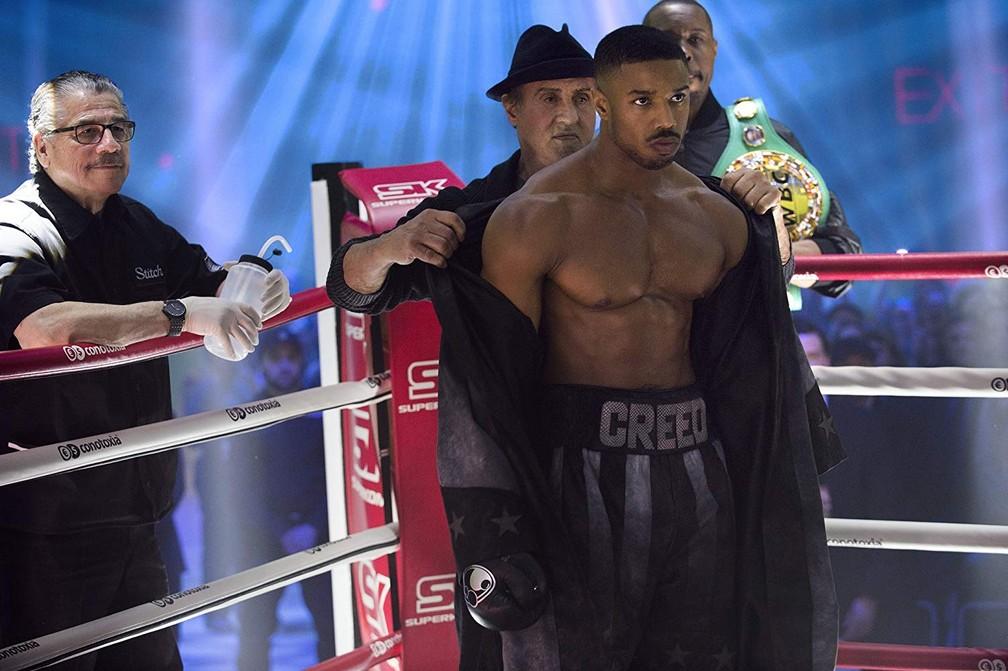 Sylvester Stallone e Michael B. Jordan em cena de 'Creed II' — Foto: Divulgação