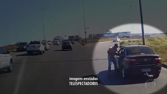 Imagens mostram tentativa de assalto na saída para Contagem; veja vídeo