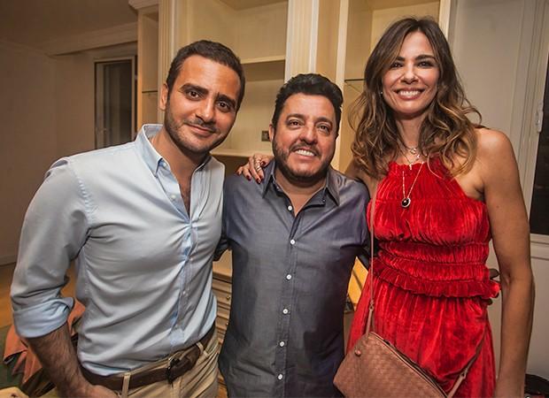 Sergio K, Bruno e Luciana Gimenez (Foto: Charles Naseh/ Divilgação )