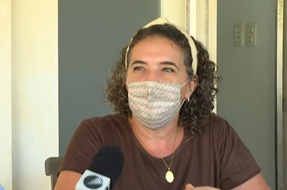 Erica Soledade já havia sido abordada por outros bandidos que tentaram aplicar o mesmo golpe — Foto: Reprodução/TV Bahia