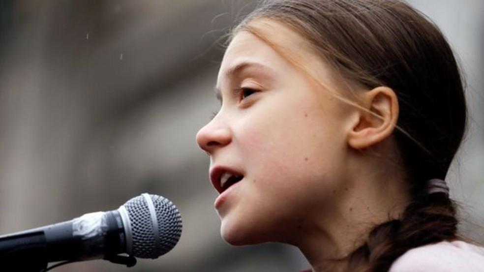 Greta Thunberg é um exemplo dos pontos fortes de crianças e jovens no espectro autista — Foto: Reuters/BBC