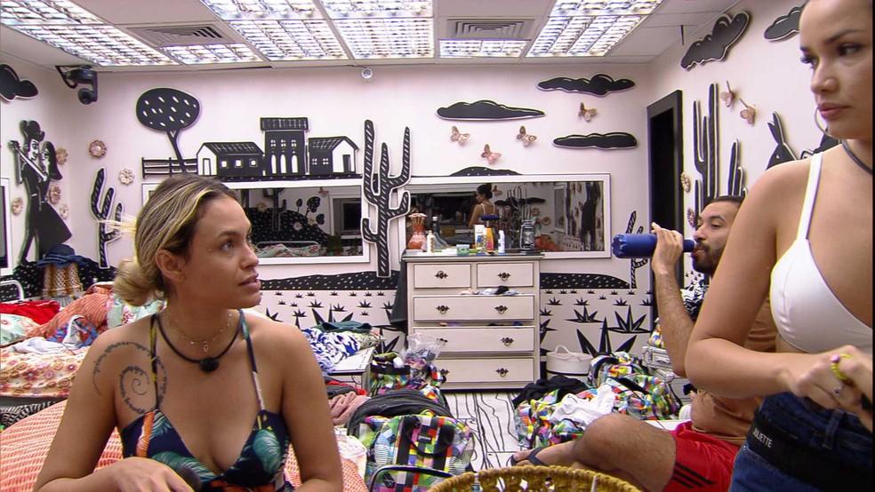 Sarah dispara sobre sister do BBB21: 'Não gosto de quem se faz de sonso' — Foto: Globo