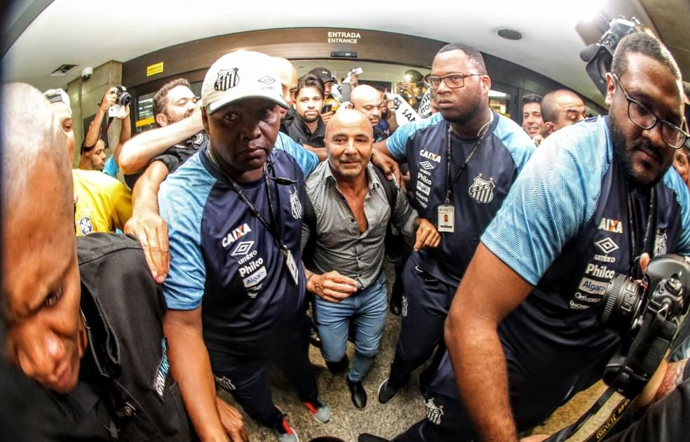 Sampaoli deve assinar com o Santos por duas temporadas — Foto: Rodrigo Coca/Santos FC