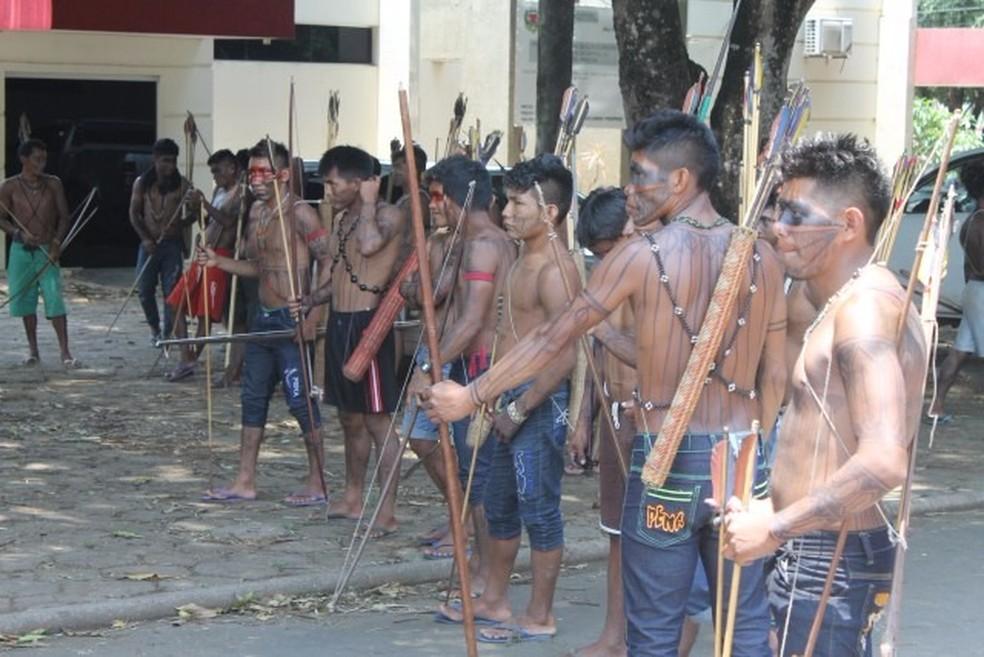 Índios em Alta Floresta (Foto: Notícia Exata)