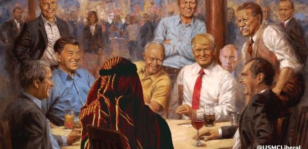 Meme com o quadro de Donald Trump (Foto: reprodução)