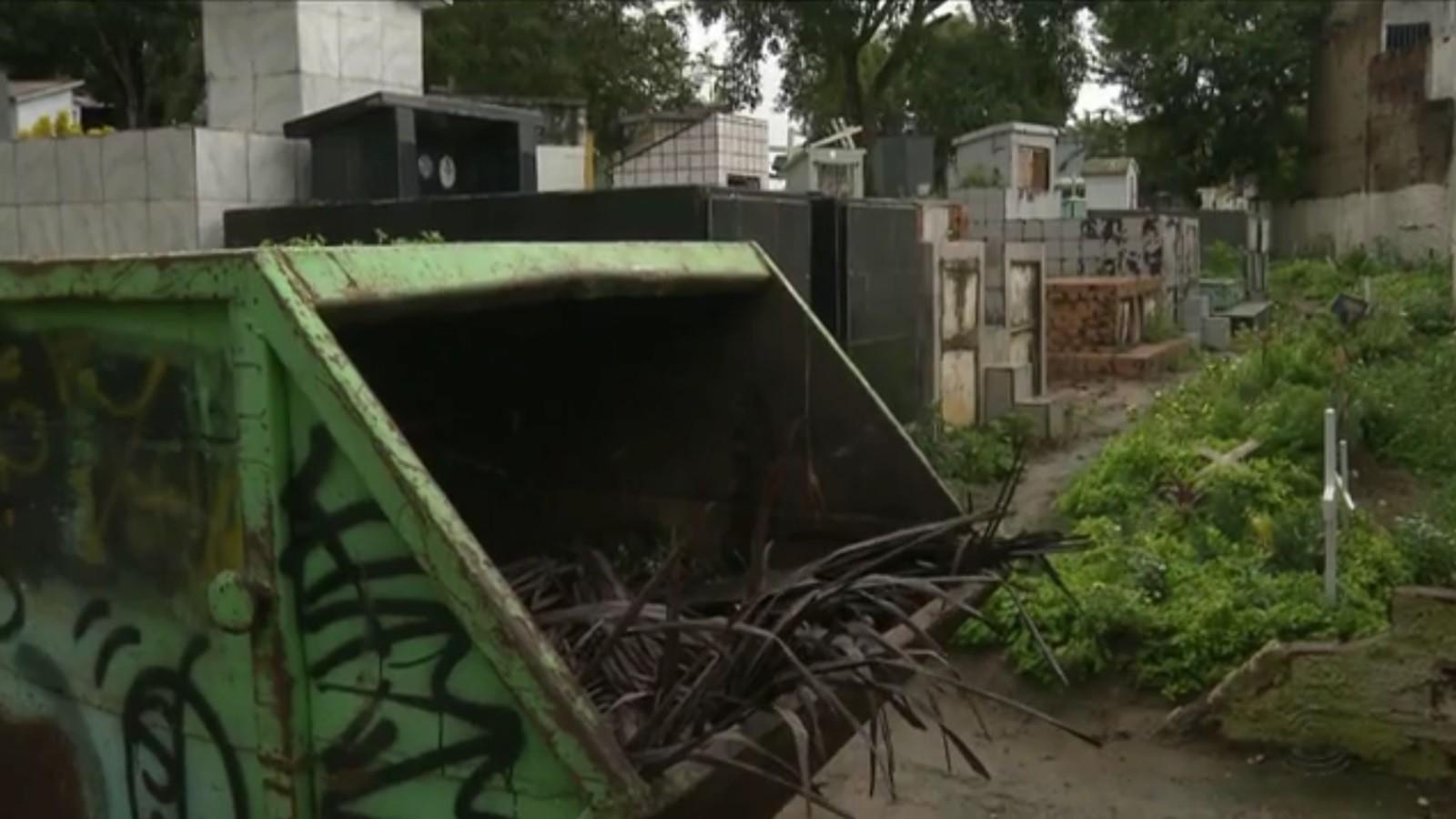 Bebê é encontrado dentro de saco de lixo em cemitério de Campina Grande, PB