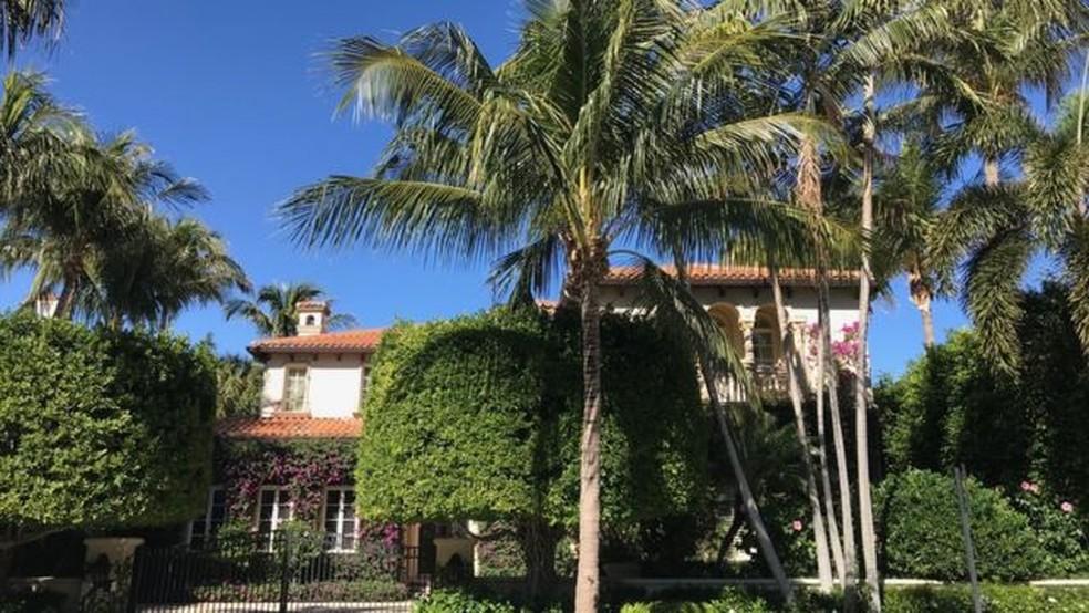 A diferença de riqueza entre Palm Beach e a vizinha West Palm Beach é impressionante — Foto: BBC Mundo