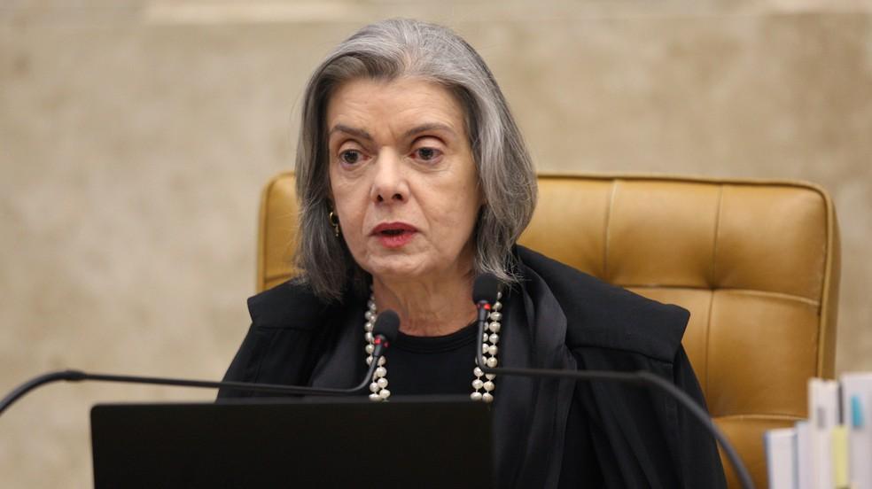 A ministra Cármen Lúcia durante sessão do Supremo Tribunal Federal (STF) no início deste mês (Foto: Nelson Jr./SCO/STF)