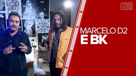 Marcelo D2 e BK fazem show inédito no Rio
