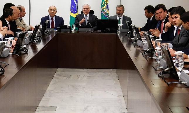 Michel Temer durante reunião ministerial (Foto: Alan Santos / PR)