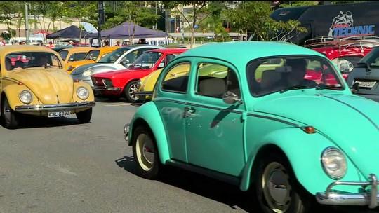 No Dia Nacional do Fusca, encontro em São Paulo reúne colecionadores