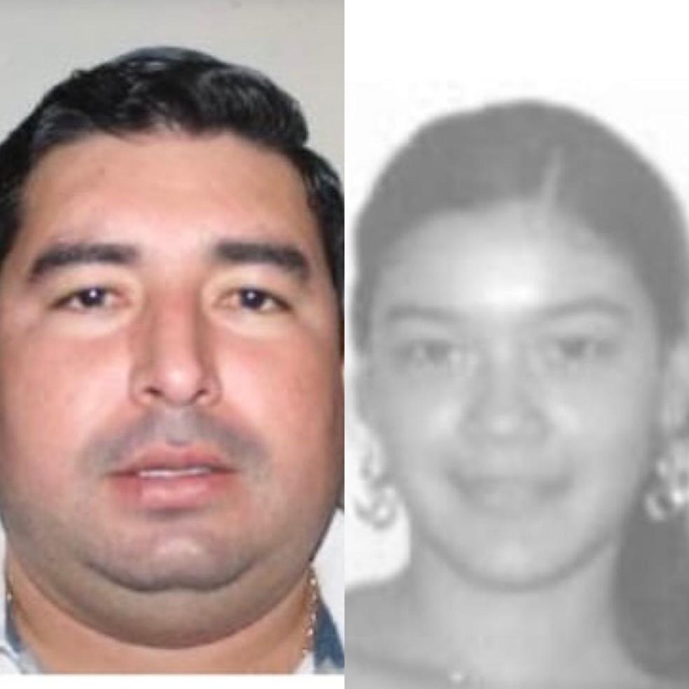 Marco e Lorena foram executados em Pedro Juan Caballero — Foto: Polícia paraguaia