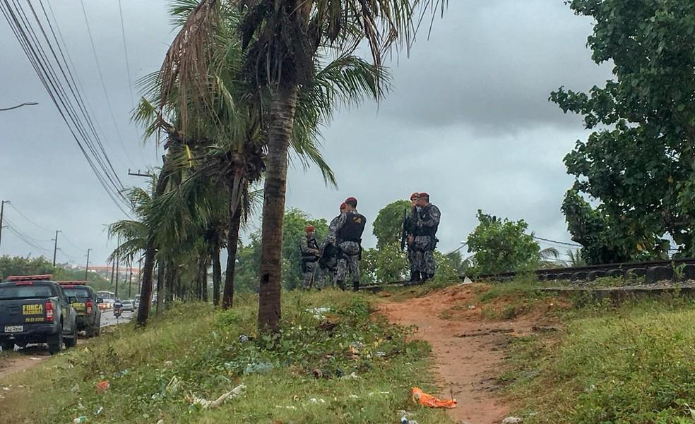 Operação na Comunidade do Mosquito em Natal — Foto: Mariana Rocha