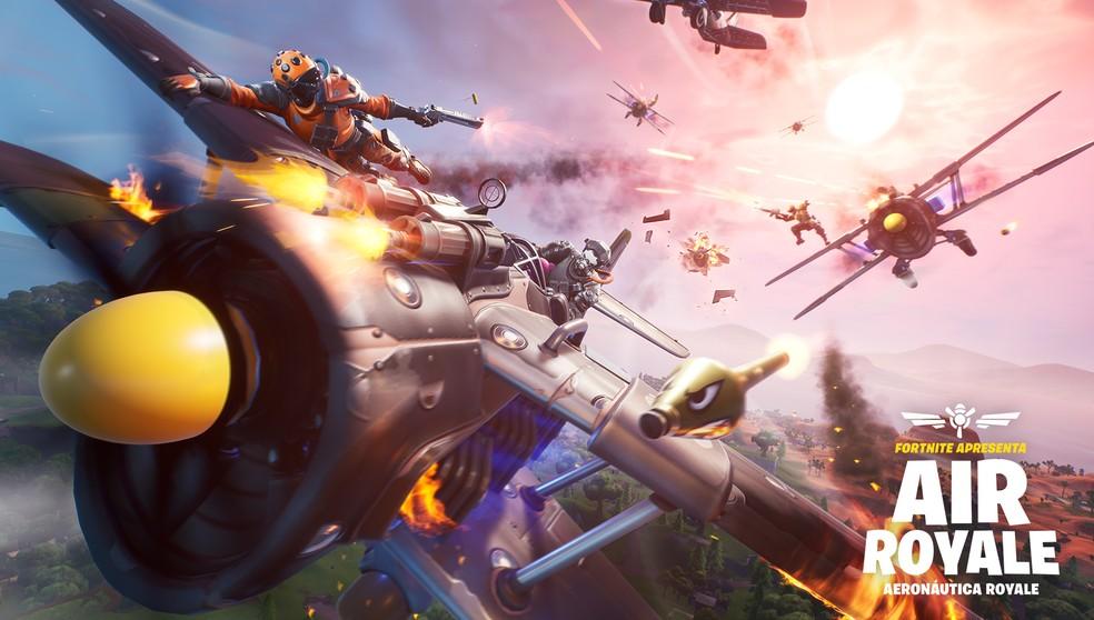 Aeronáutica Royale é o novo modo limitado disponível no Fortnite � Foto: Divulgação/Epic Games