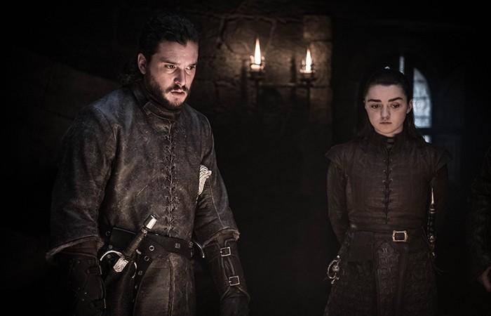 Finalmente podemos ver mais cenas de Jon e Arya (Foto: Divulgação)