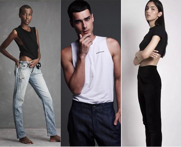 Os modelos Maria Oliveira, Fernando Schnerocke e Marcela Thomé  (Foto: Divulgação)