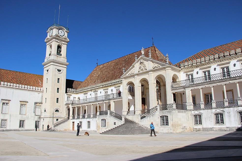 Universidade de Coimbra, em Portugal é uma das universidades do país que aceitam o Enem. — Foto: Divulgação/Universidade de Coimbra
