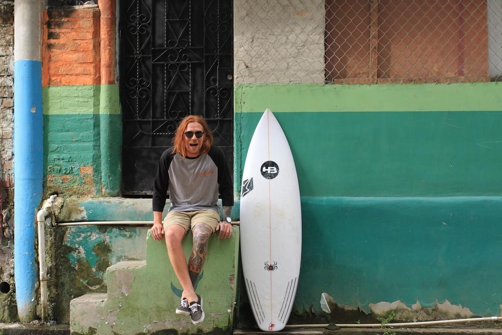 Fanta era surfista e videomaker — Foto: Marcio David/Divulgação