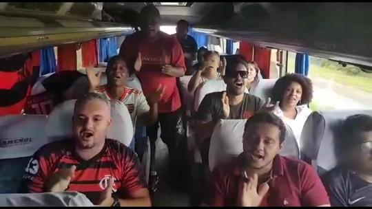 Flamengo x River: cearense encara seis mil quilômetros de ônibus até Lima para ver final; assista a vídeo