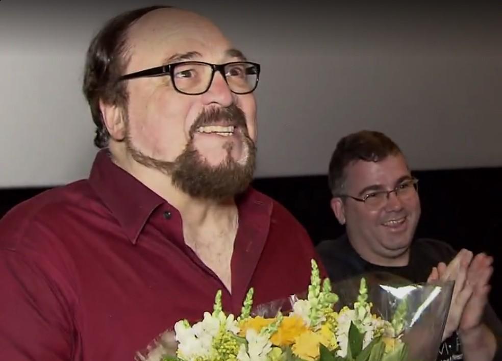 O crítico de cinema Rubens Ewald Filho — Foto: Reprodução/TV Tribuna