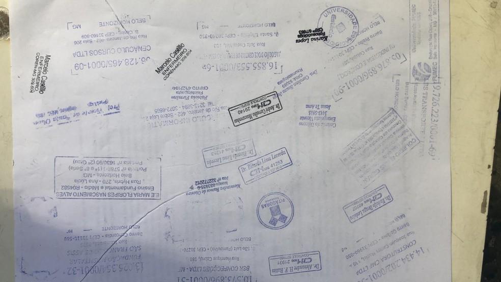 Material apreendido pela PM no Centro de Belo Horizonte — Foto: Polícia Militar/Divulgação