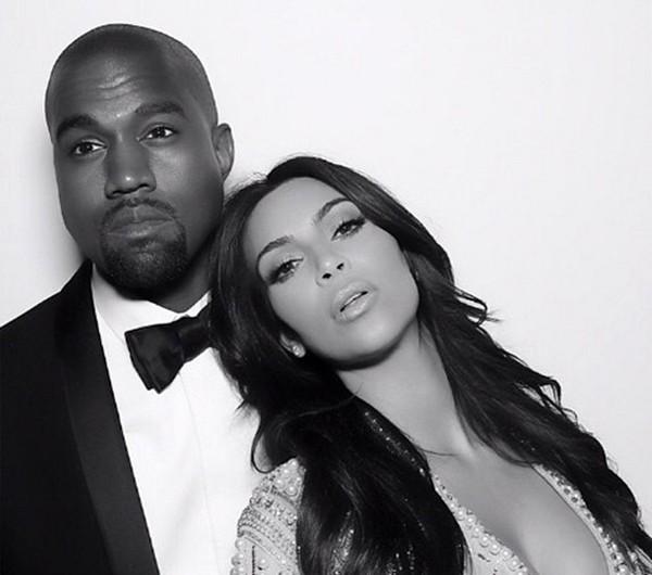 Kim Kardashian e Kanye West (Foto: Instagram)