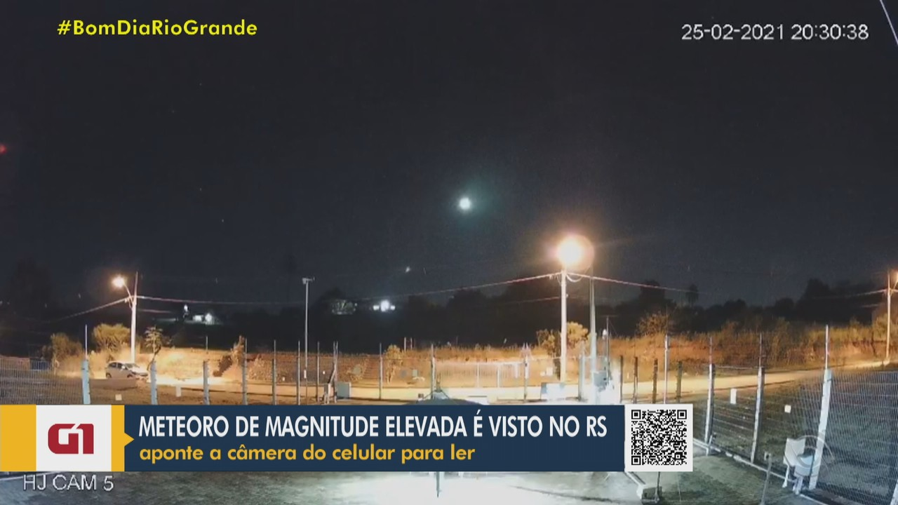 Queda de meteoro de magnitude elevada é vista no RS