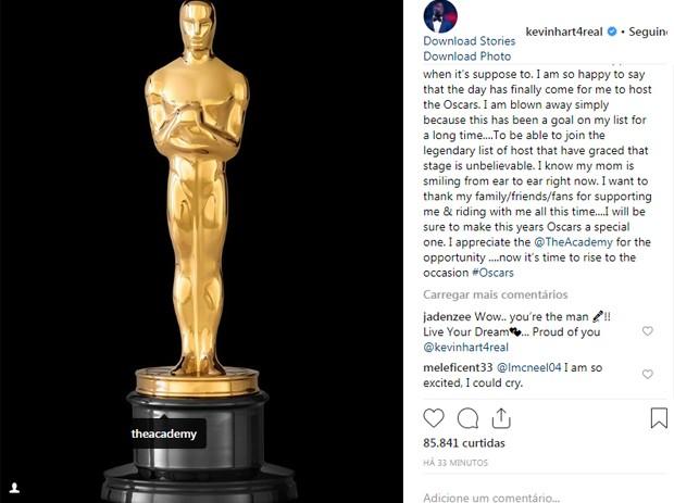 Kevin Hart (Foto: Reprodução/Instagram)