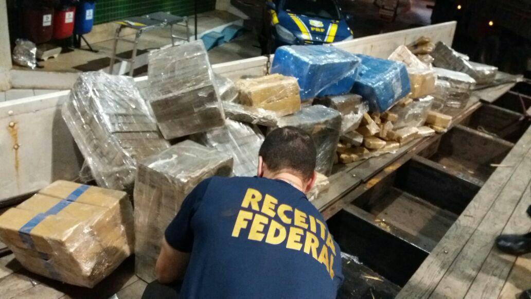 Ação conjunta apreende mais de meia tonelada de maconha em Guaíra