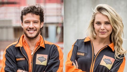 Final do 'Desafiados': relembre trajetória dos finalistas Nando Rodrigues e Louise D'Tuani