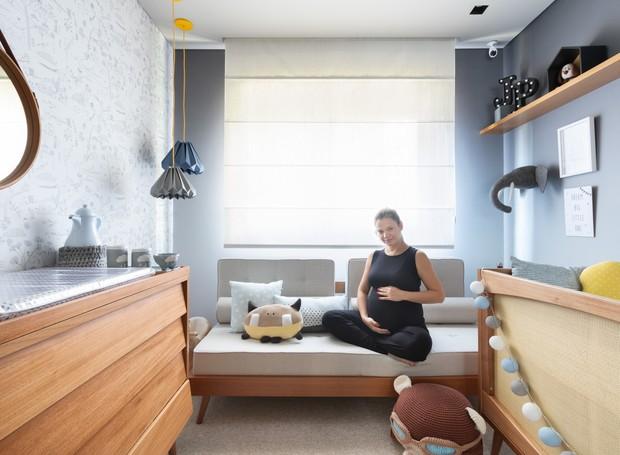 A atriz Milena Toscano mostra com exclusividade para a Casa e Jardim o quarto de seu primeiro filho, João Pedro (Foto: Alexandre Disaro/Editora Globo)